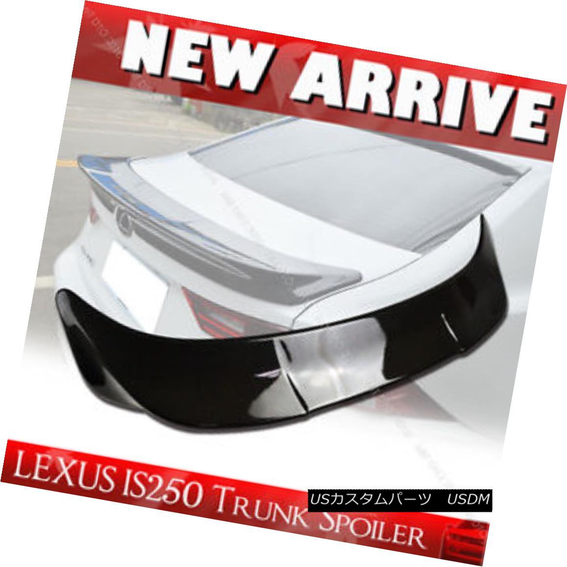 エアロパーツ Carbon Fiber 4-Door sedan For Lexus IS250 IS350 IS F TRD Type Rear Trunk Spoiler レクサスIS250用カーボンファイバー4ドアセダンIS350 IS F TRDタイプリアトランクスポイラー