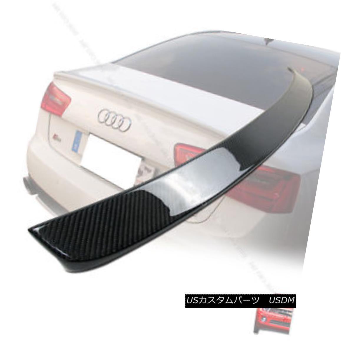 エアロパーツ Carbon For Audi A6 C7 4D Saloon D Look Boot Trunk Spoiler Wing 2014 アウディA6 C7 4DサルーンDルックルックブーツ・トランク・スポイラーウィング2014用