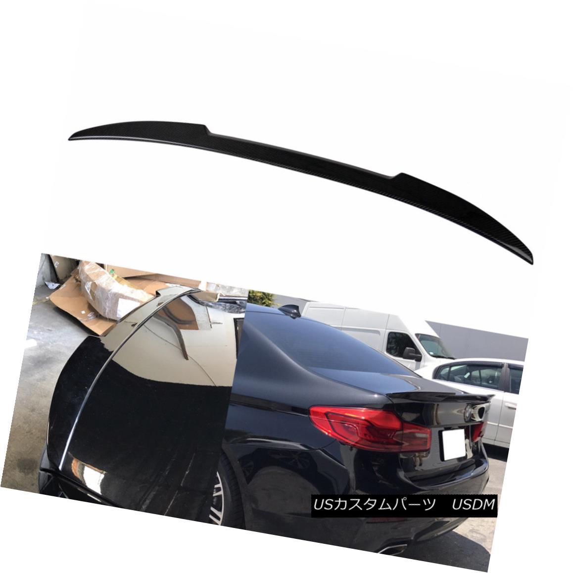 エアロパーツ BMW 5-Ser 2017-2018 Dry Carbon G30 4D Sedan M4 Look Rear Trunk Spoiler BMW 5シリーズ2017-2018ドライカーボンG30 4DセダンM4ルーフリアトランク・スポイラー