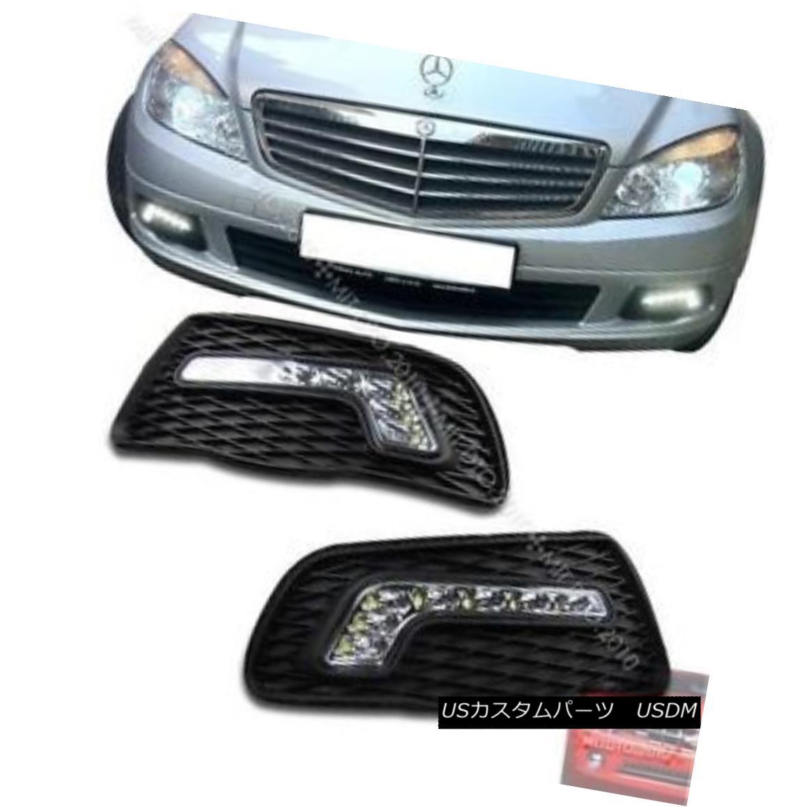 エアロパーツ Mercedes BENZ W204 C-class Sedan LED Daytime Running Light DRL 08-11 § メルセデスベンツW204 CクラスセダンLEDデイタイムランニングライトDRL 08-11
