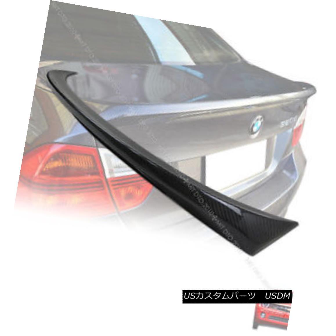 エアロパーツ Carbon Fiber E90 BMW 3-Series M-Tech Type Boot Trunk Spoiler Rear Wing 06-11 カーボンファイバーE90 BMW 3シリーズM-Techタイプブーツトランクスポイラーリアウイング06-11