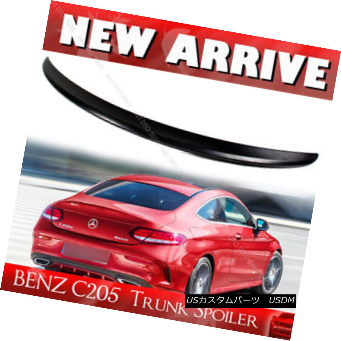 エアロパーツ 15-17 Painted Color BENZ C-Class C205 2DR Boot Trunk Spoiler C180 15-17塗装色BENZ CクラスC205 2DRブートトランク・スポイラーC180