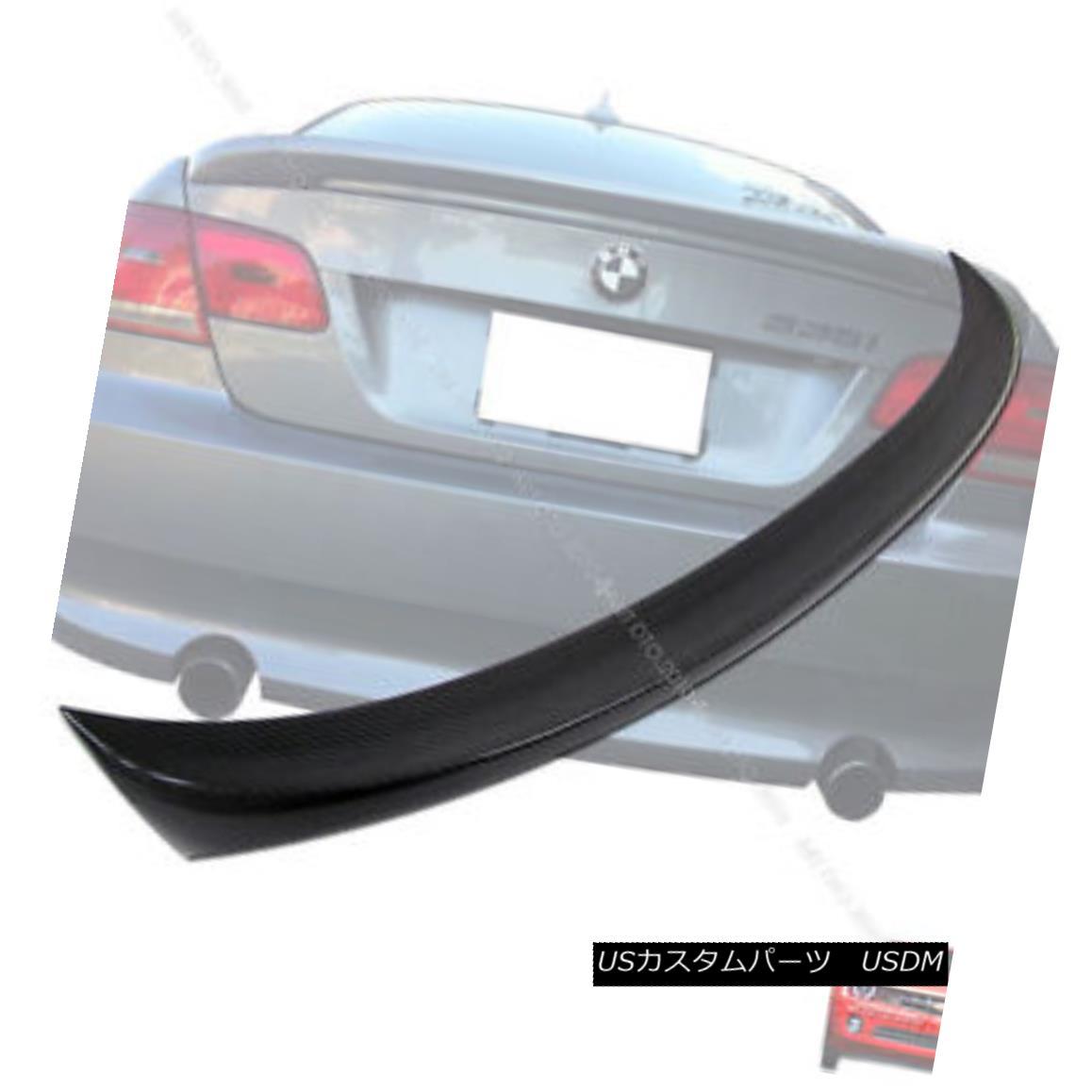 エアロパーツ Carbon Fiber BMW E92 3 Series 2DR M-Tech Boot Trunk Spoiler 2007 2013 カーボンファイバーBMW E92 3シリーズ2DR M-Techブーツトランク・スポイラー2007 2013
