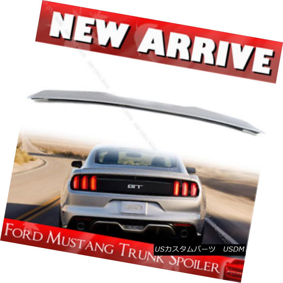エアロパーツ Painted Color FORD Mustang 6th Coupe 2DR V Rear Trunk Boot Spoiler 16-17 塗装カラーフォードマスタング第6クーペ2DR Vリアトランクブートスポイラー16-17