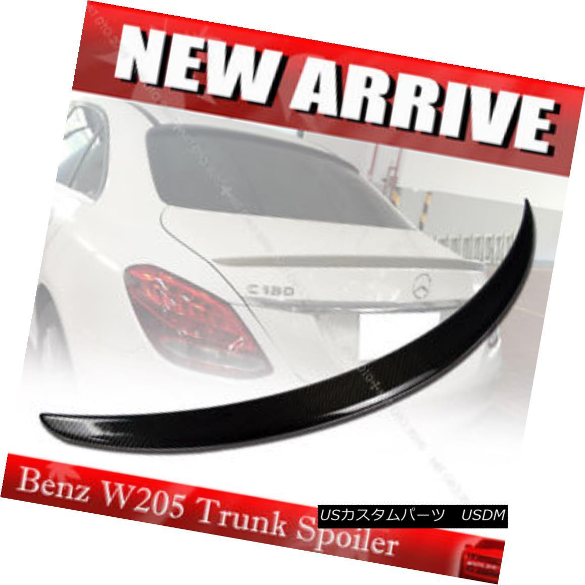 エアロパーツ Carbon Fiber Mercedes BENZ W205 C-class Sedan A Type Rear Trunk Spoiler § 炭素繊維メルセデスベンツW205 CクラスセダンAタイプリアトランクスポイラー