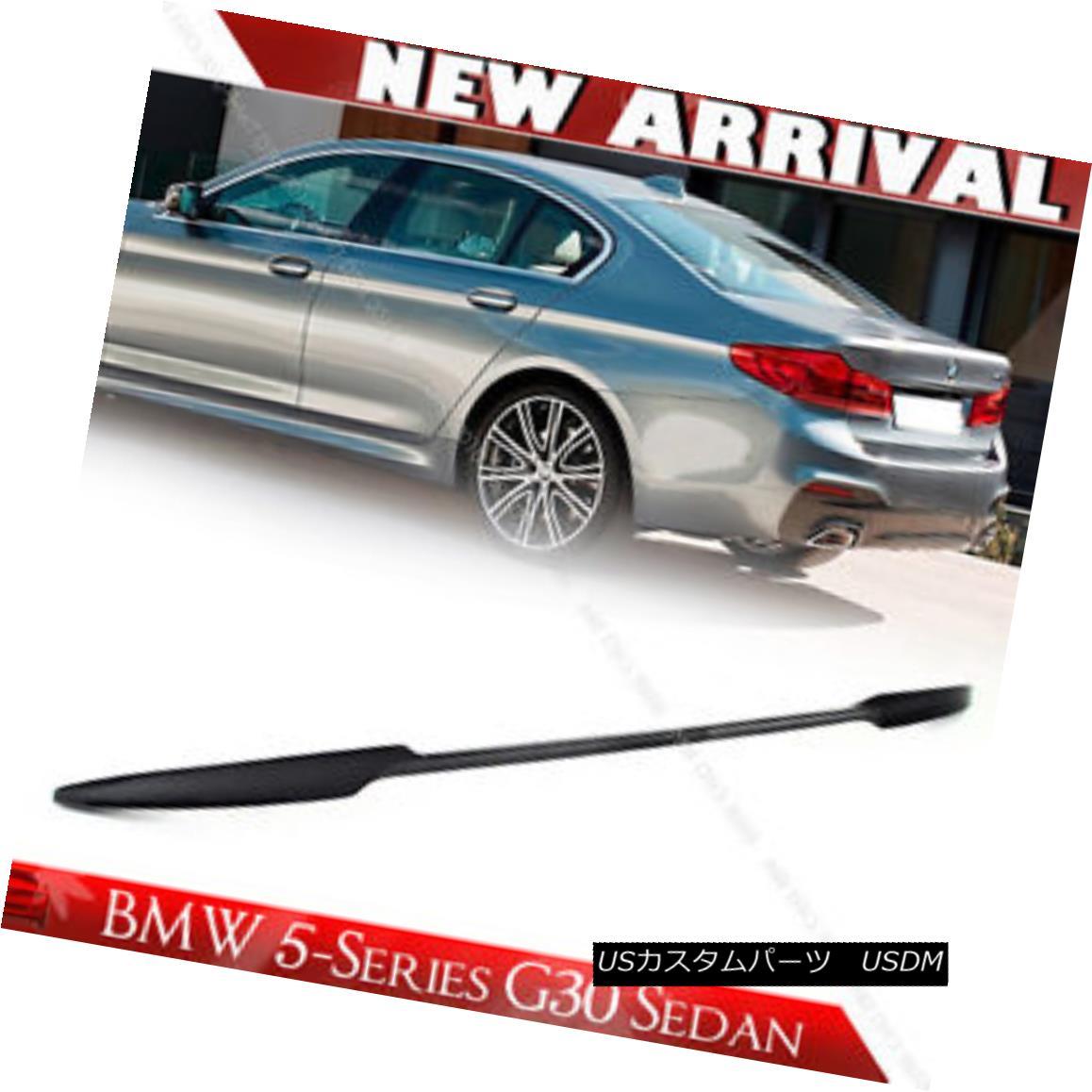 エアロパーツ Painted All Color 17-18 5-Series G30 BMW 4DR Sedan Sport Trunk Spoiler ABS すべての色を塗装17-18 5シリーズG30 BMW 4DRセダンスポーツトランクスポイラーABS