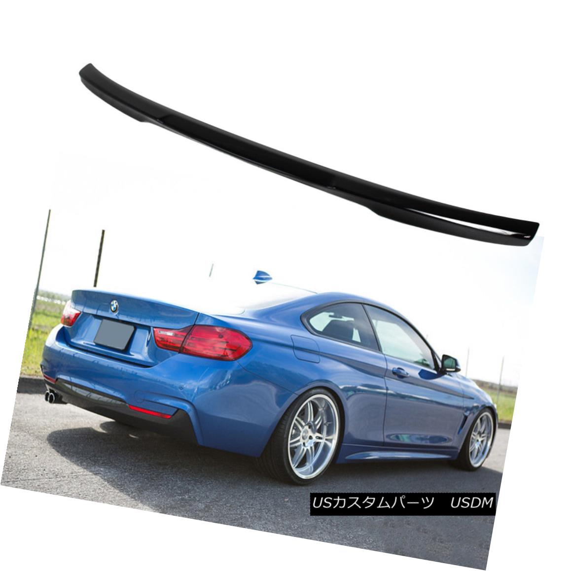エアロパーツ Paint #668 435i 420i 430d BMW 4-Ser F32 Coupe M4 Style Trunk Spoiler Jet Black ペイント#668 435i 420i 430d BMW 4-Ser F32クーペM4スタイルトランクスポイラージェットブラック