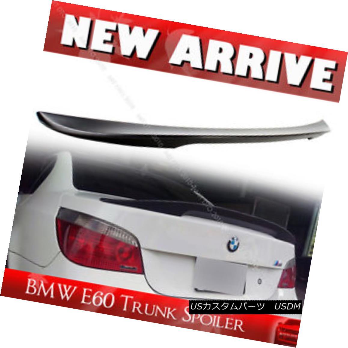 エアロパーツ Painted For BMW 5-Series E60 4D High Kick P Style Trunk Spoiler 06-10 525i 530i BMW 5シリーズE60 4DハイキックPスタイルトランクスポイラー06-10 525i 530i用