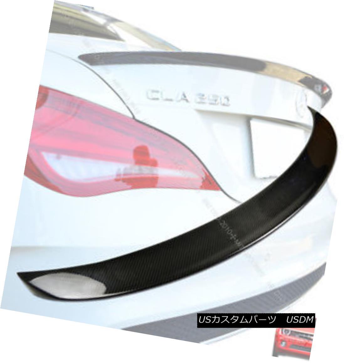 エアロパーツ ++Carbon Fiber Mercedes BENZ C117 W117 CLA180 CLA200 BIG Trunk Spoiler § ++炭素繊維メルセデスベンツC117 W117 CLA180 CLA200ビッグトランクスポイラー