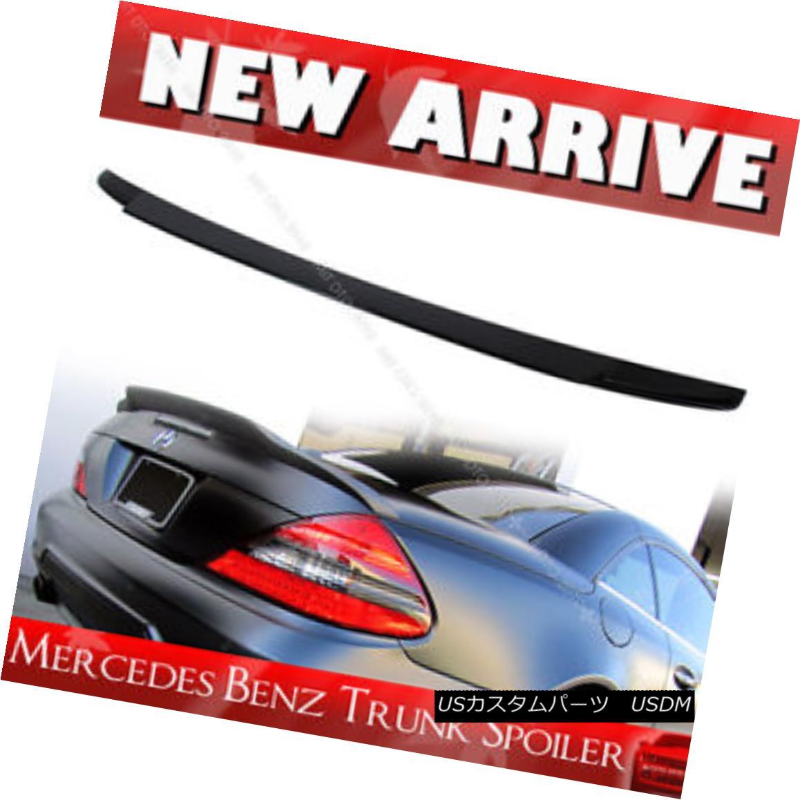 エアロパーツ Mercedes Benz Convertible R230 V Look Rear Trunk Spoiler 2011 Unpainted メルセデス・ベンツ・コンバーチブルR230 Vルック・リア・トランク・スポイラー2011未塗装