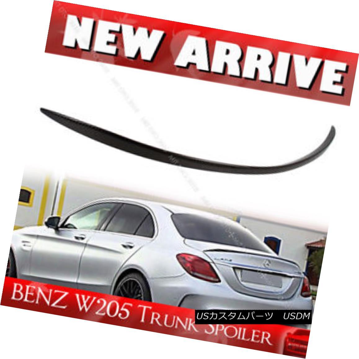 エアロパーツ Carbon OE Trunk Spoiler For Mercedes BENZ C-Class W205 Sedan 2016 C400 メルセデスベンツCクラスW205セダン2016 C400用カーボンOEトランク・スポイラー