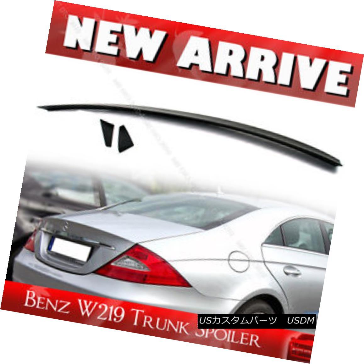 エアロパーツ Unpainted Mercedes BENZ CLS Sedan Saloon W219 Trunk Wing Spoiler 未塗装メルセデスベンツCLSセダンサルーンW219トランクウィングスポイラー
