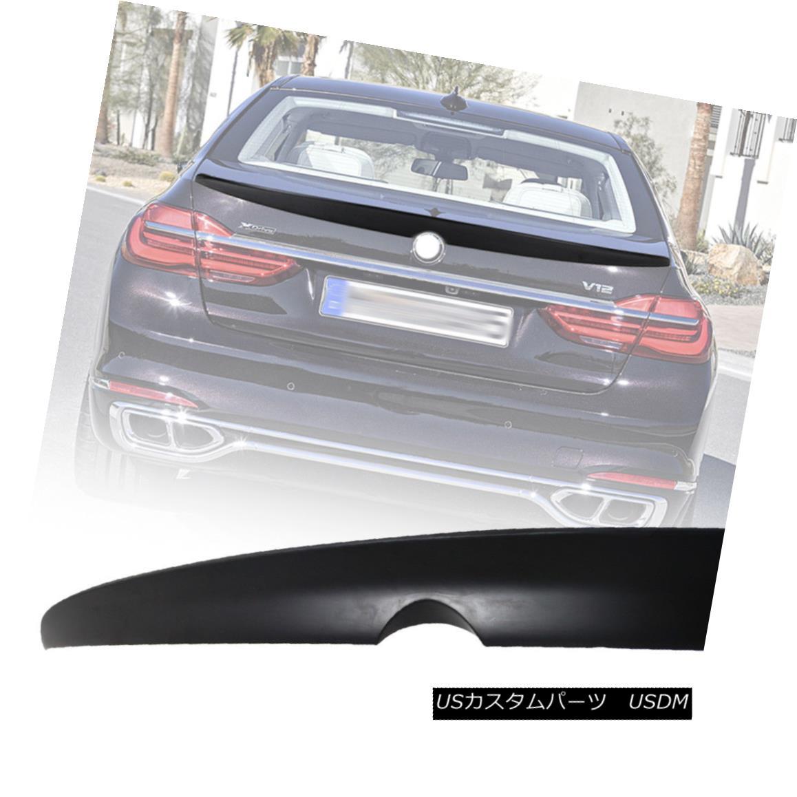 エアロパーツ One Day Ship- BMW 7 Series G11 Sedan A Style Rear Trunk Spoiler Wing Unpaint 1日出荷 - BMW 7シリーズG11セダンAスタイルリアトランク・スポイラーウイング・アンペイント