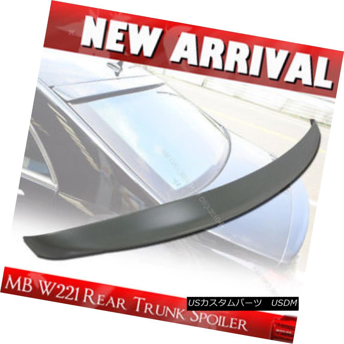 エアロパーツ Mercedes Benz W221 S-class A Type Trunk/Boot Spoiler Rear Wing 07 13 メルセデスベンツW221 SクラスAタイプトランク/ブーツスポイラーリアウイング07 13