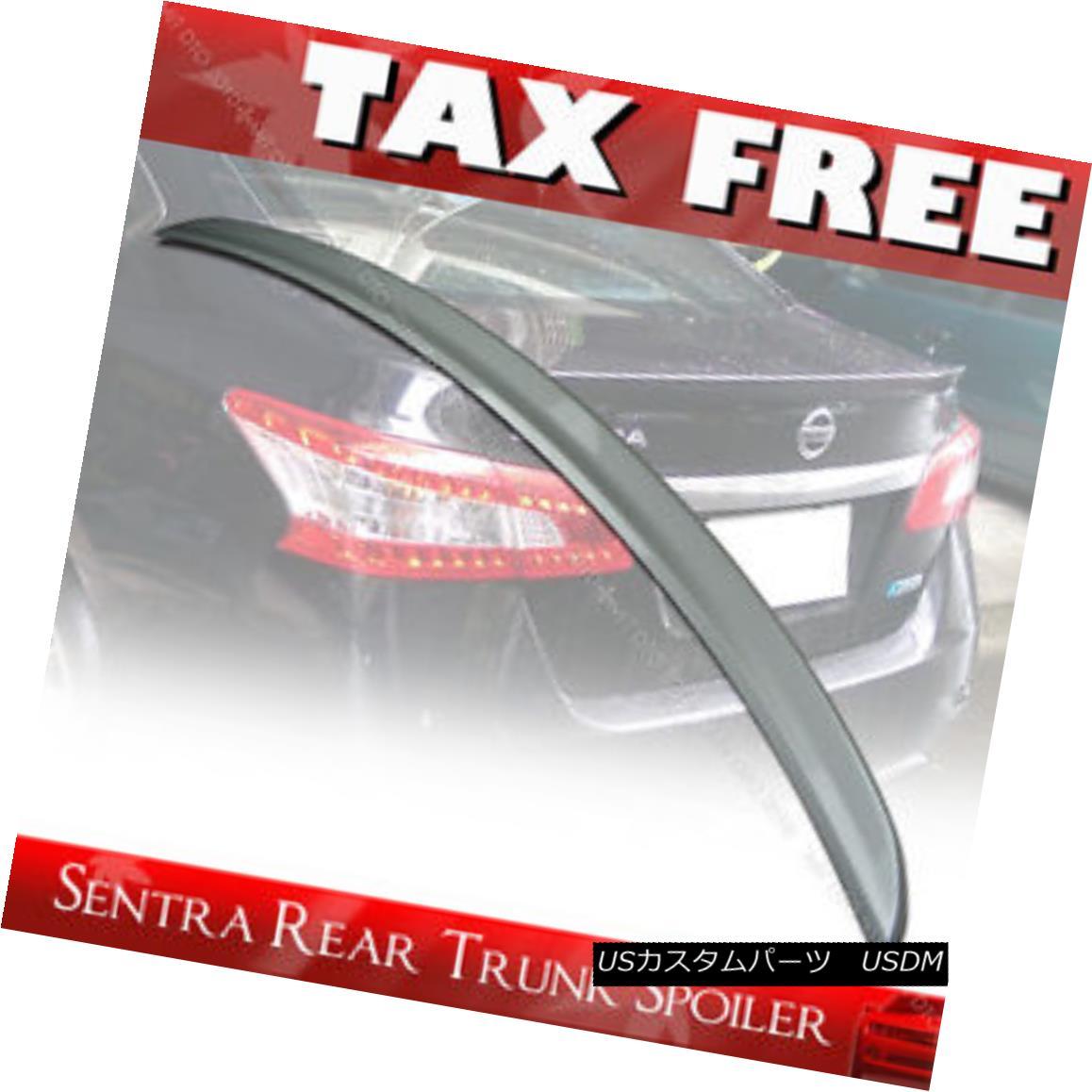 エアロパーツ Painted FOR Nissan Sentra B17 7th 4DR Sedan ABS Trunk Lip Spoiler SR SV 13-17 日産セントラB17 7th 4DRセダンABSトランクリップスポイラーSR SV 13-17