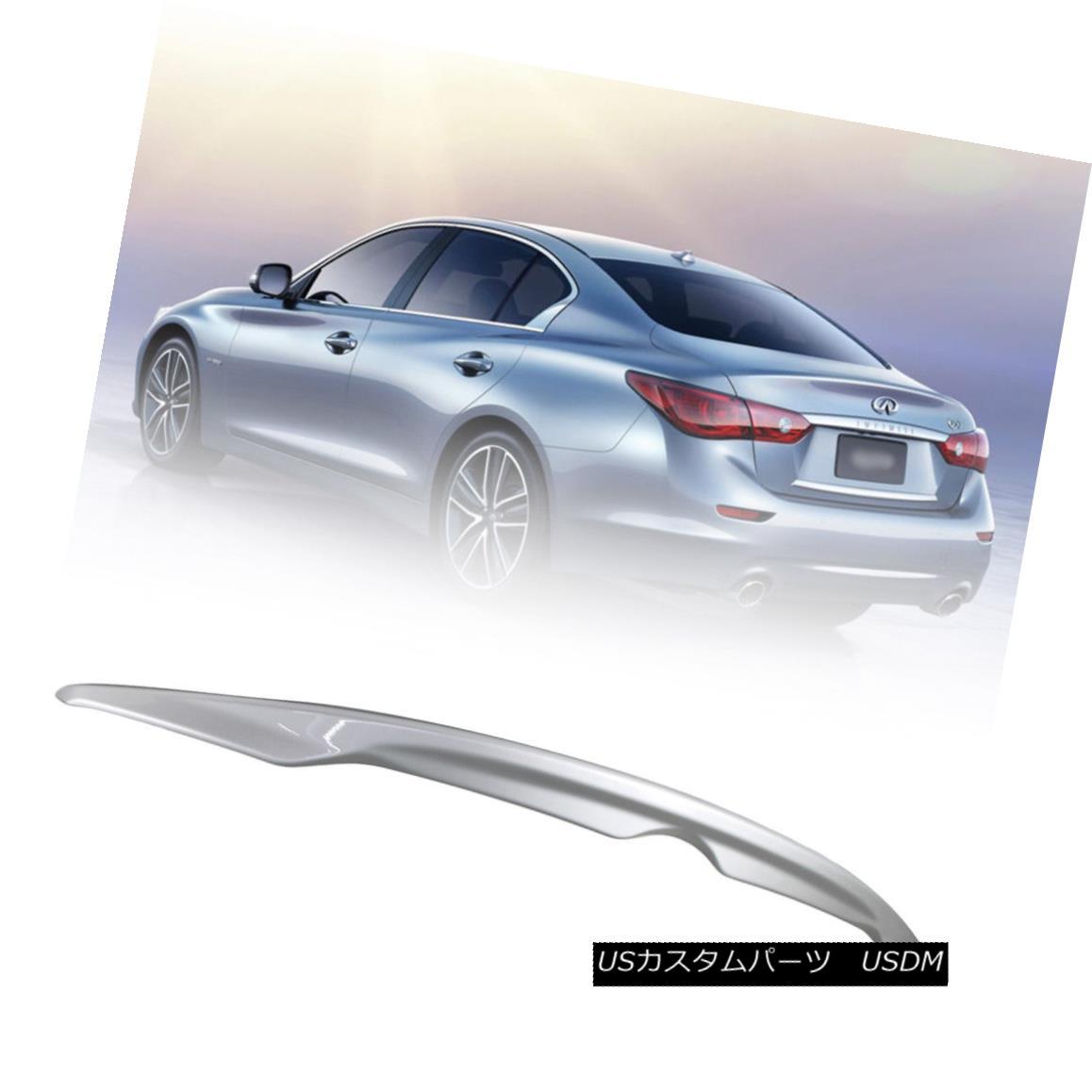 エアロパーツ Painted #K23 OE Style For INFINITI Q50 Sport 4DR Sedan Trunk Spoiler 16 17 18 塗装済み#K23 OEスタイルINFINITI Q50スポーツ用4DRセダントランクスポイラー16 17 18