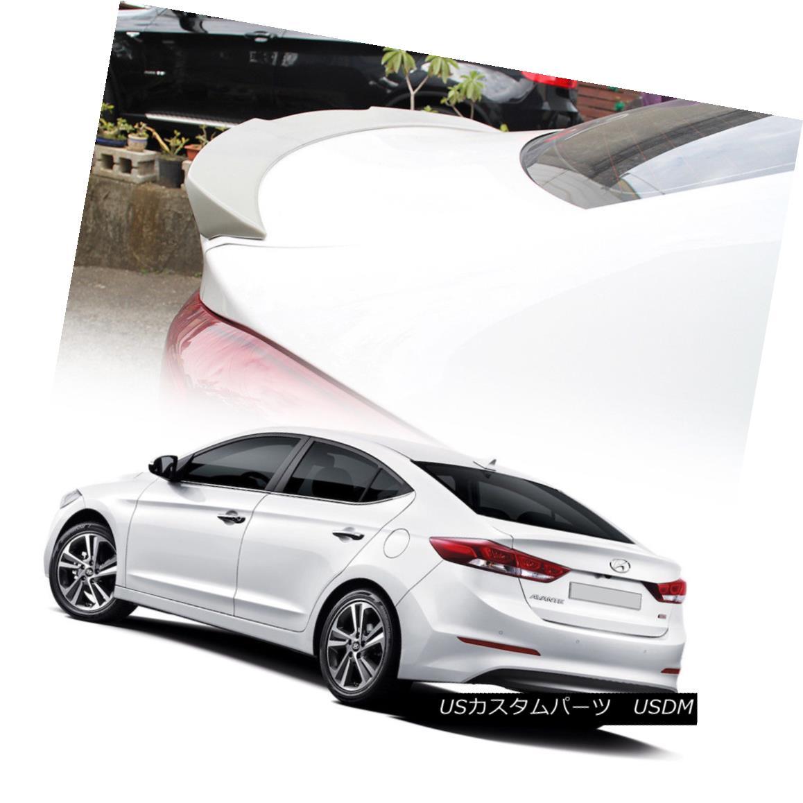 エアロパーツ Unpaint OE Type Trunk Spoiler Wing 2018 For Hyundai Elantra AD 6th SE GL L Sedan Hyundai Elantra AD 6th SE GL Lセダン用OEタイプのトランク・スポイラー・ウィング2018をペイントしない