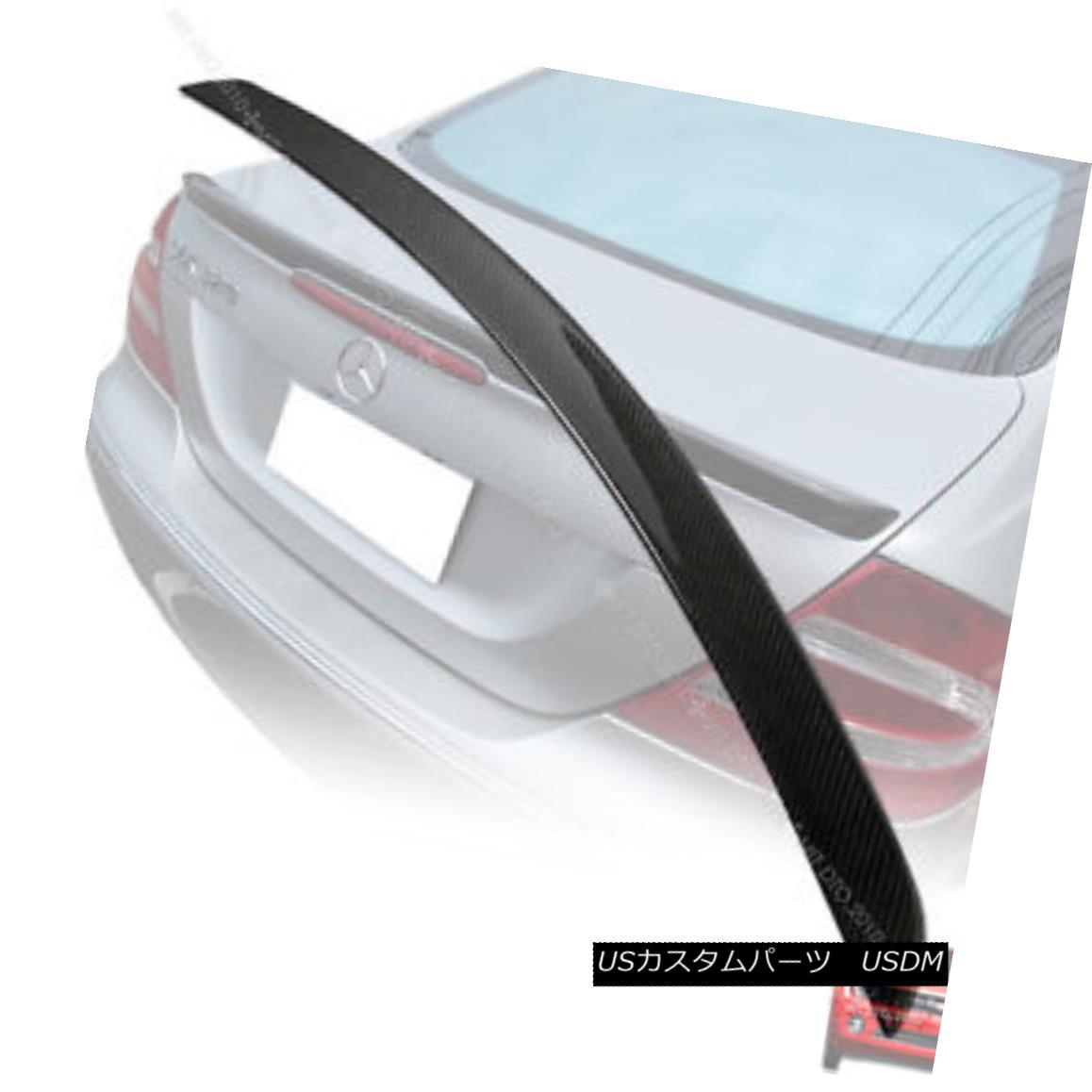 エアロパーツ ++Carbon Fiber Mercedes W209 CLK-class A TYPE Trunk Spoiler Rear Wing 03-08 § ++炭素繊維メルセデスW209 CLKクラスAタイプトランクスポイラーリアウイング03-08