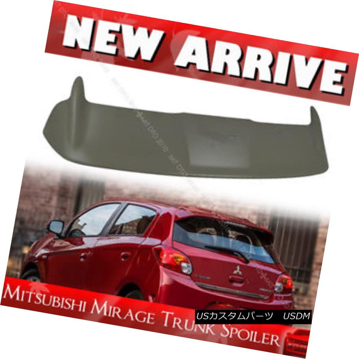 エアロパーツ 2011-2015 Unpainted For Mitsubishi Mirage Hatchback OE Look Rear Trunk Spoiler 2011-2015未塗装三菱ミラージュハッチバックOEルックリアトランク・スポイラー
