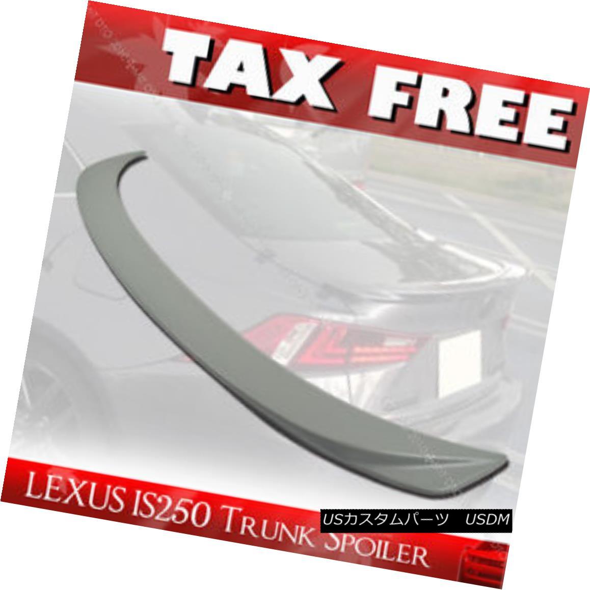 エアロパーツ 14-16 Painted For Lexus IS250 IS350 IS F F Type ABS Rear Trunk Lip Spoiler Wing§ レクサスIS250 IS350 IS F FタイプABSリアトランクリップスポイラーウイング