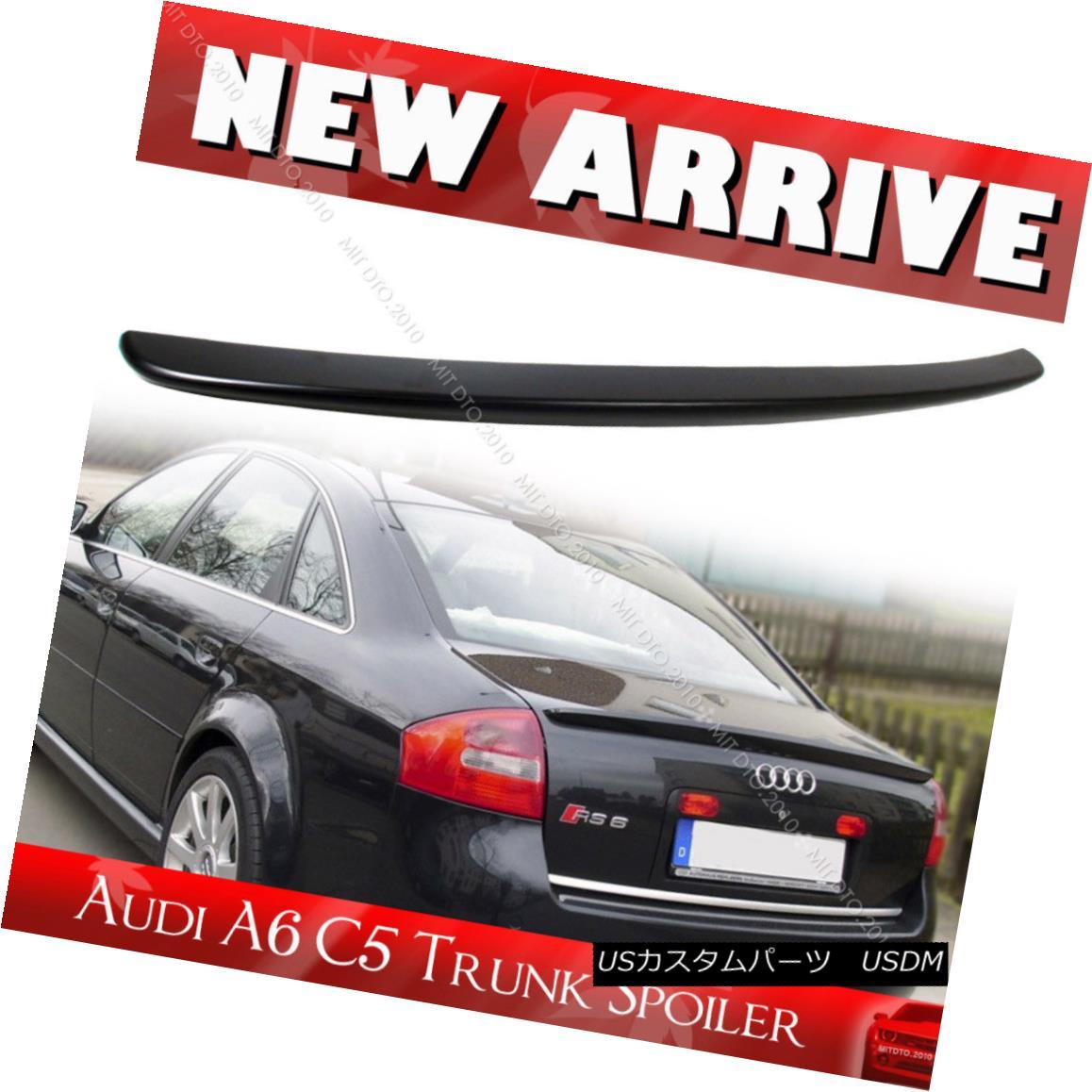 エアロパーツ Painted Color ABS For AUDI A6 Quattro C5 4D Sedan A Type Trunk Spoiler 1998+ AUDI A6用ペイントカラーABS Quattro C5 4DセダンAタイプトランクスポイラー1998+