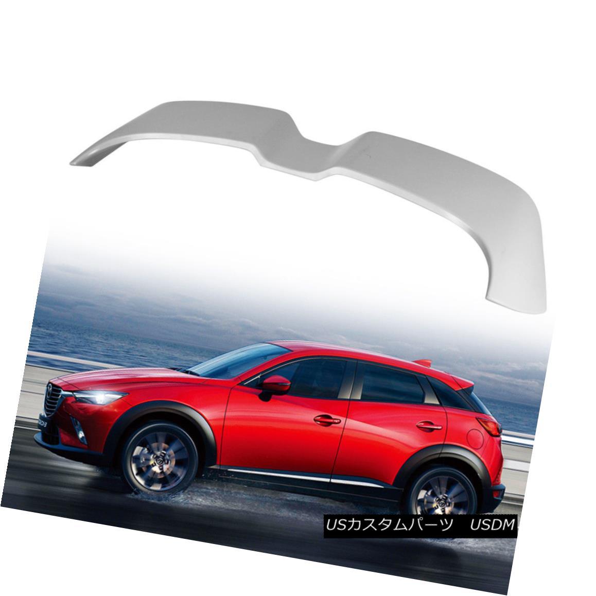 エアロパーツ Fit Mazda Hatcback CX-3 CX3 GX GT GS Sport Roof / Trunk Spoiler Painted D Type フィットマツダハッチバックCX-3 CX 3 GX GT GSスポーツルーフ/トランクスポイラーペイントDタイプ