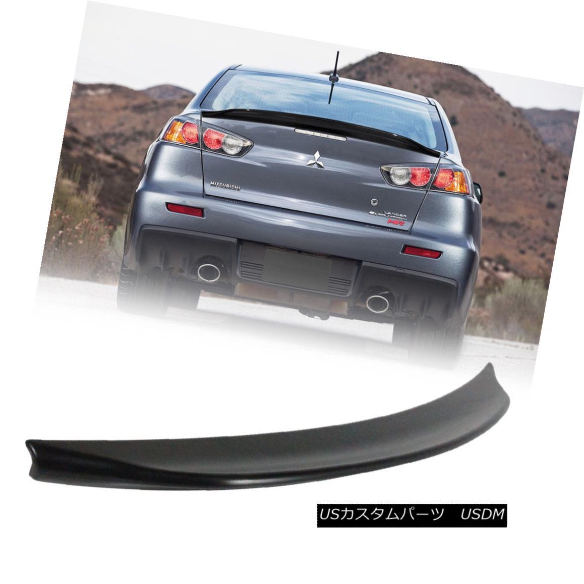 エアロパーツ 08-15 For Mitsubishi Lancer Evolution EVO X RS Style Trunk Spoiler Unpaint ABS 08-15三菱ランサーエボリューションEVO X RSスタイルトランクスポイラー無塗装ABS