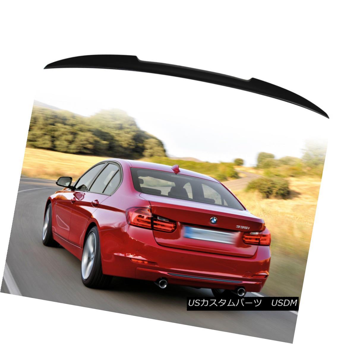 エアロパーツ Matte Black For BMW 3-Series F80 M3 F30 V Style Trunk Spoiler 320i 325i 328i BMW 3シリーズF80 M3 F30 Vスタイルトランク・スポイラー用マット・ブラック320i 325i 328i