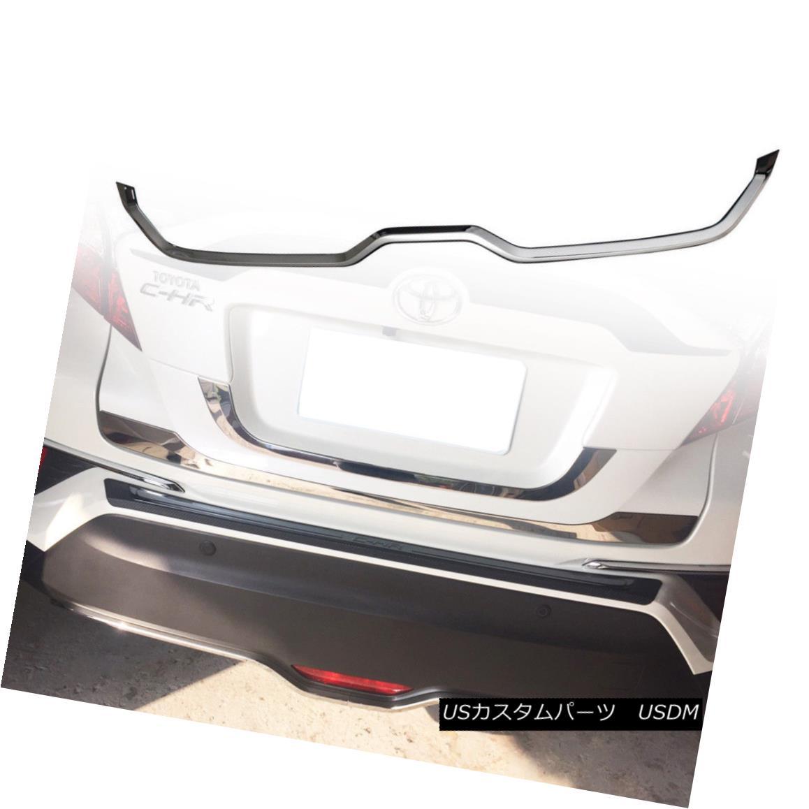 エアロパーツ C-HR SUV Hatcback FOR TOYOTA ABS Chrome Rear Bumper Under Garnish 2016up トヨタABSクロームリアバンパー用C-HR SUVハッチバック