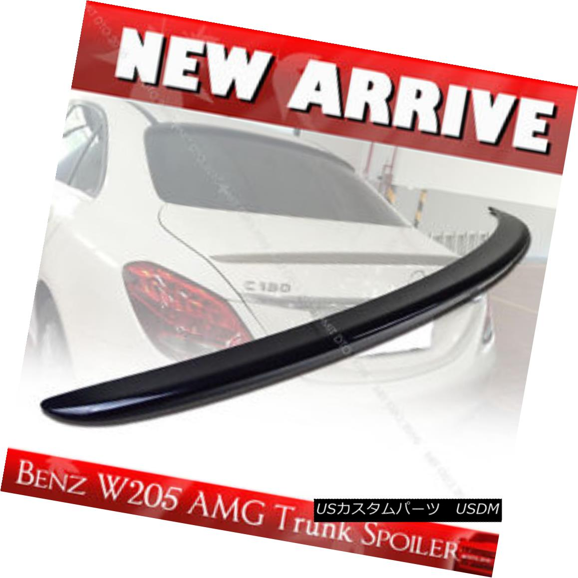 エアロパーツ Painted Mercedes BENZ W205 C-class 4DR Sedan A Type Rear Trunk Spoiler ABS § ペイントメルセデスベンツW205 Cクラス4DRセダンAタイプリアトランクスポイラーABS