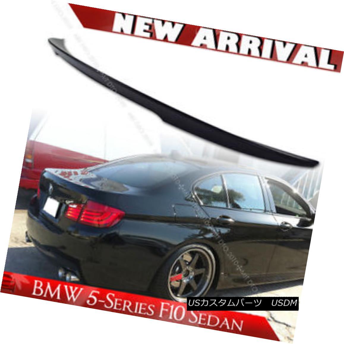 エアロパーツ Unpainted BMW 5-Series F10 High Kick Performance Trunk Spoiler 16 535d 未塗装のBMW 5シリーズF10ハイキックパフォーマンストランク・スポイラー16 535d