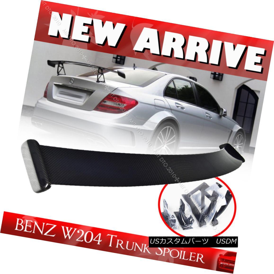 エアロパーツ Carbon Fiber Mercedes BENZ C Class W204 Black Series Trunk Spoiler SEDAN 13 炭素繊維メルセデスBENZ CクラスW204ブラックシリーズトランクスポイラーSEDAN 13