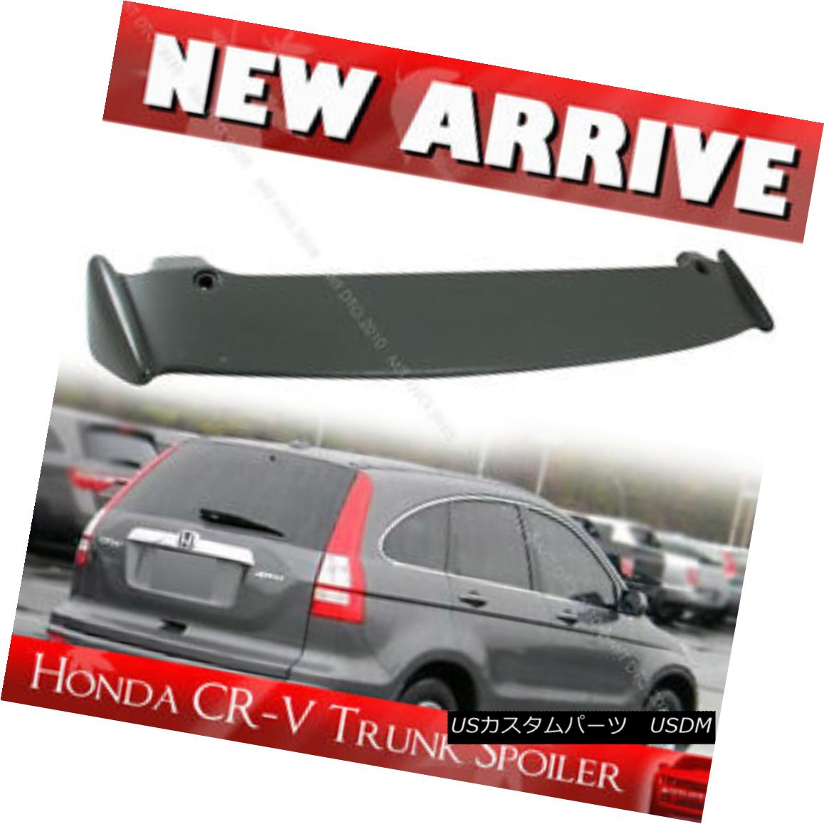 エアロパーツ For Honda CR-V CRV 3rd Mugen-Look Unpainted Roof Trunk Spoiler 07 11 ホンダCR-V CRV第3回無限遠ルーフトランク・スポイラー07 11