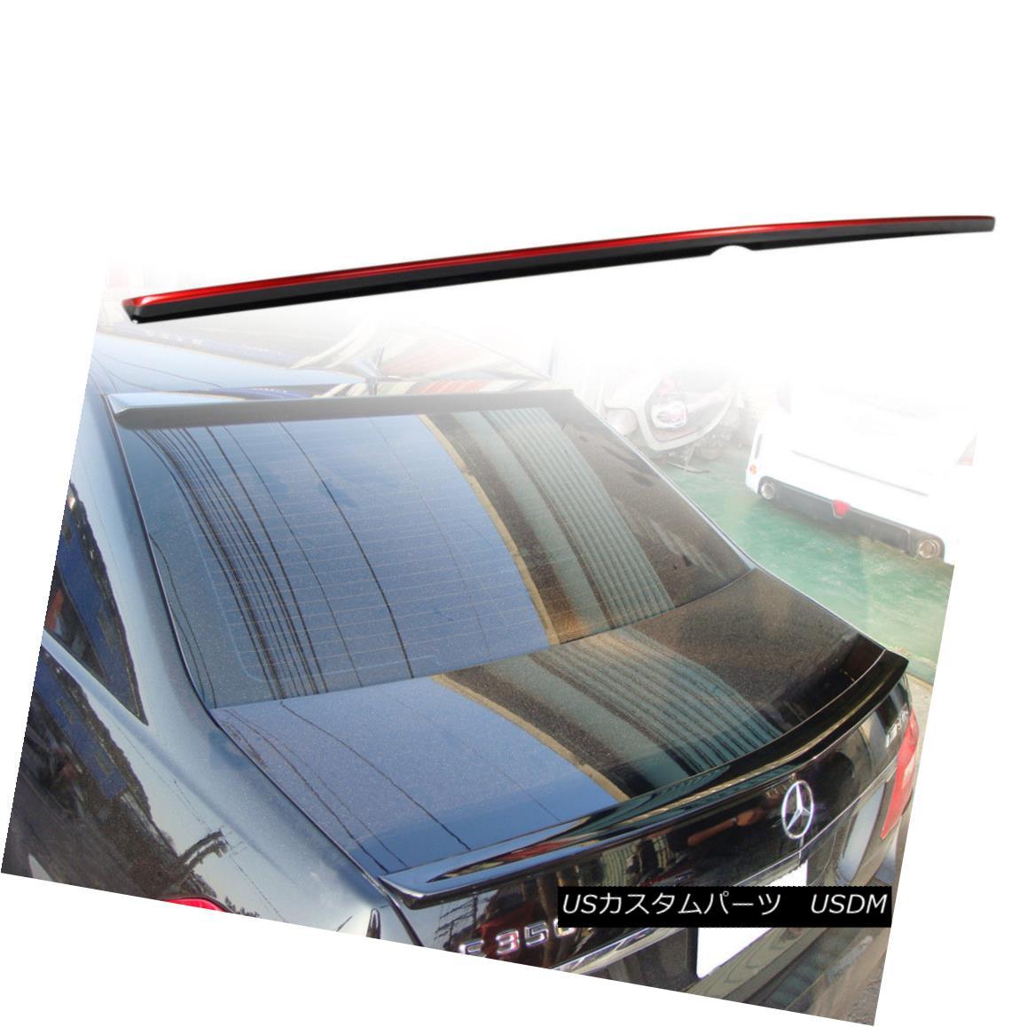 エアロパーツ 10-16 Painted For Mercedes BENZ W212 Sedan Trunk Spoiler Wing Black + Red Line ベンツW212セダントランク・スポイラー・ウィング・ブラック+レッド・ライン