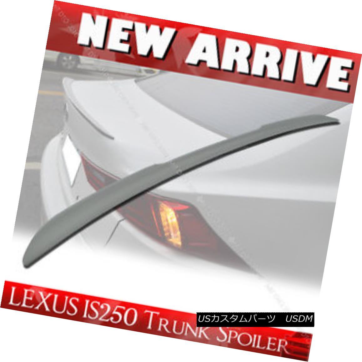 エアロパーツ Unpainted FRP For Lexus IS250 IS350 IS F Rear Trunk Spoiler Wing§ レクサスIS250 IS350 IS未塗装FRP Fリヤトランク・スポイラーWing