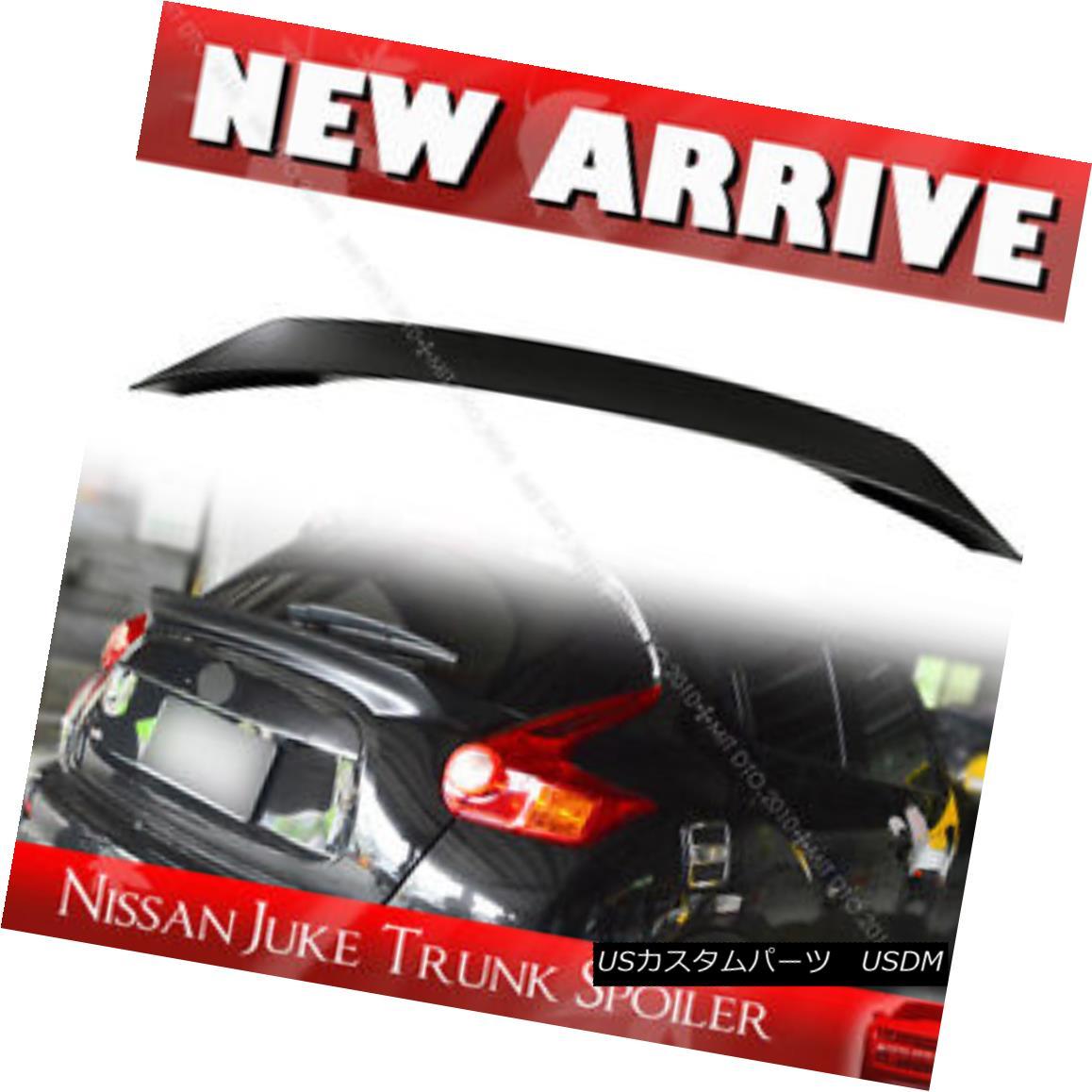 エアロパーツ Unpaint For Nissan JUKE 1st SUV Hatchback Rear Trunk Middle Spoiler 2017 日産自動車JUKE 1st SUVハッチバックリア・トランク・ミドル・スポイラー2017