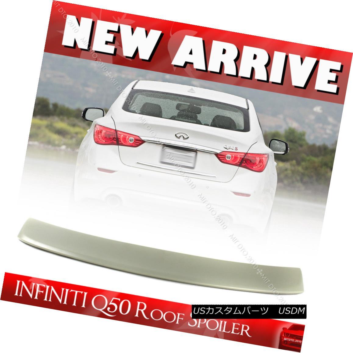 エアロパーツ Unpainted Rear Roof Spoiler For INFINITI Q50 V37 Sedan D Style 16 17 18 INFINITI Q50 V37セダンDスタイル16 17 18の未塗装リアールーフスポイラー