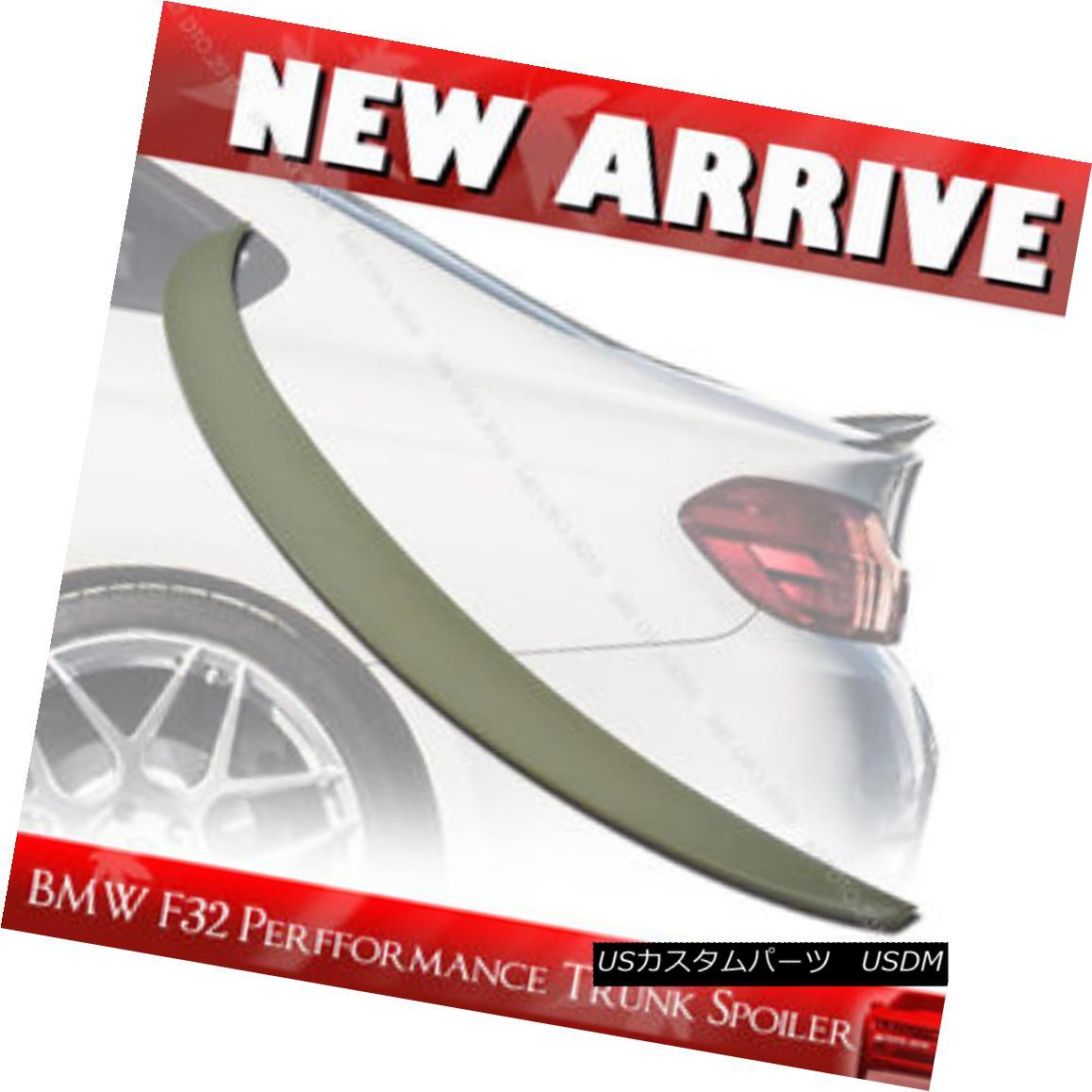 エアロパーツ Unpainted BMW F32 420i 428i Performance P Type Rear Boot Trunk Spoiler§ 未塗装のBMW F32 420i 428iパフォーマンスPタイプリア・ブート・トランク・スポイラー