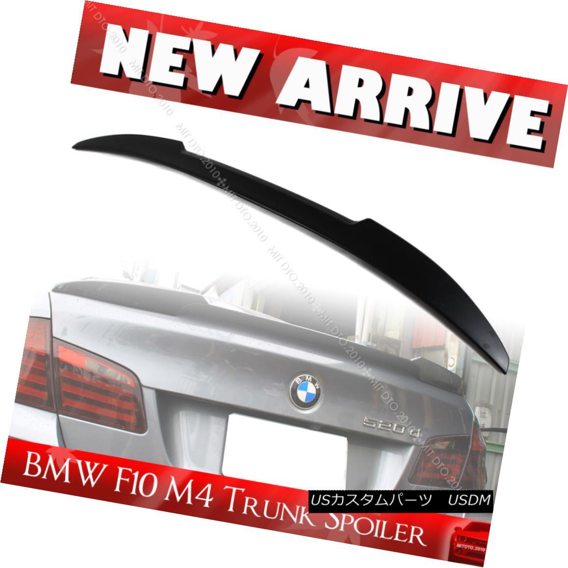 エアロパーツ Unpainted BMW 5-series F10 4DR M4 Type Rear Trunk Spoiler 535i 520i 550i 11-16 未塗装BMW 5シリーズF10 4DR M4タイプリアトランク・スポイラー535i 520i 550i 11-16