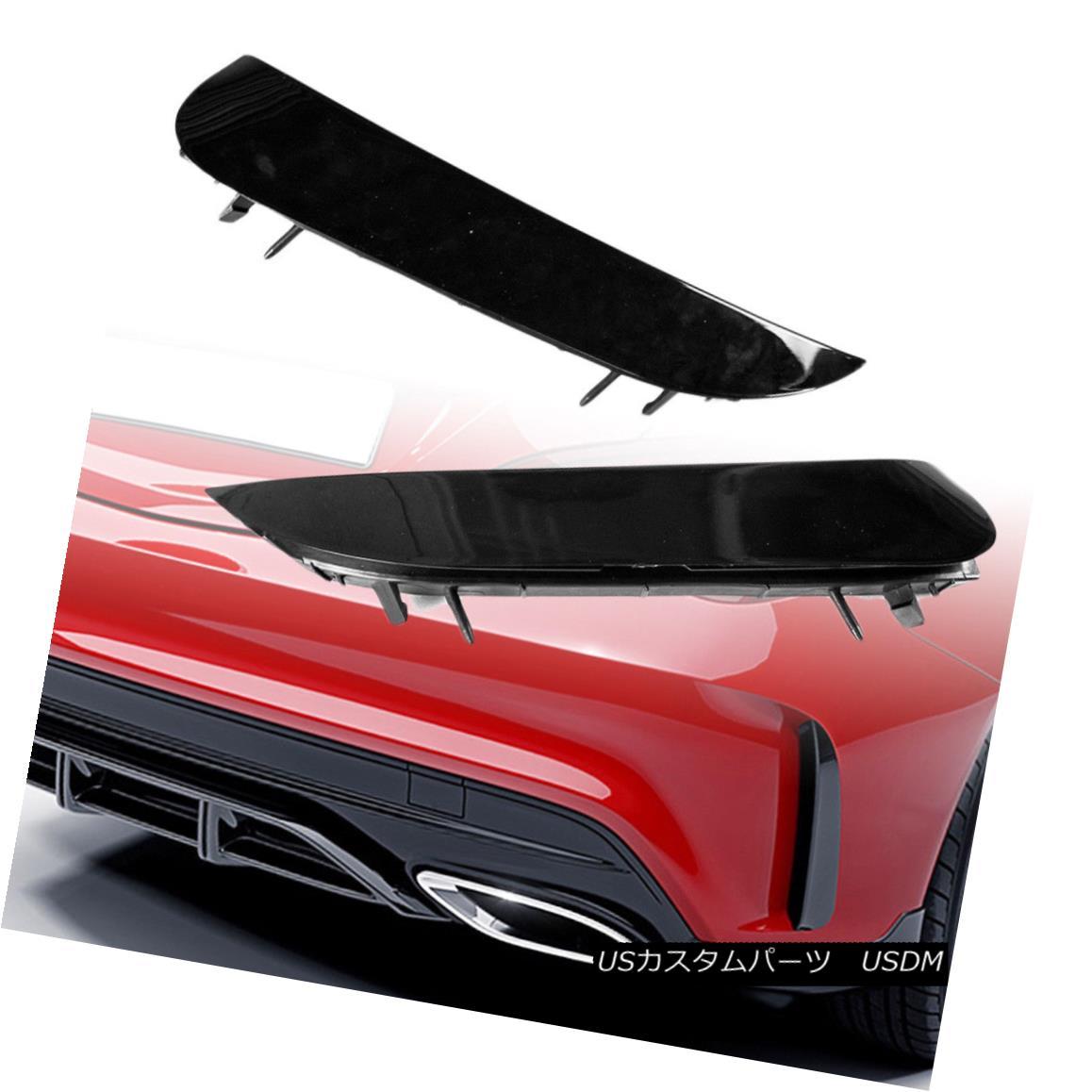 エアロパーツ Rear Vent Insert Cover Trim For Mercedes BENZ CLA-Class A45 AMG W117 C117 Black メルセデスベンツCLAクラスA45 AMG W117 C117ブラックのリアベントインサートカバートリム