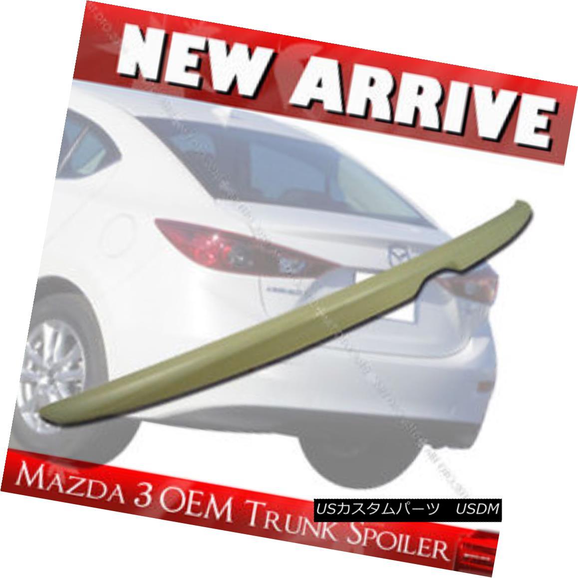 エアロパーツ Unpainted MAZDA 3 OE ABS Trunk Boot Spoiler Rear Wing 14-17 4DR Sedan § 未塗装MAZDA 3 OE ABSトランク・ブーツ・スポイラー・リアウィング14-17 4DRセダン
