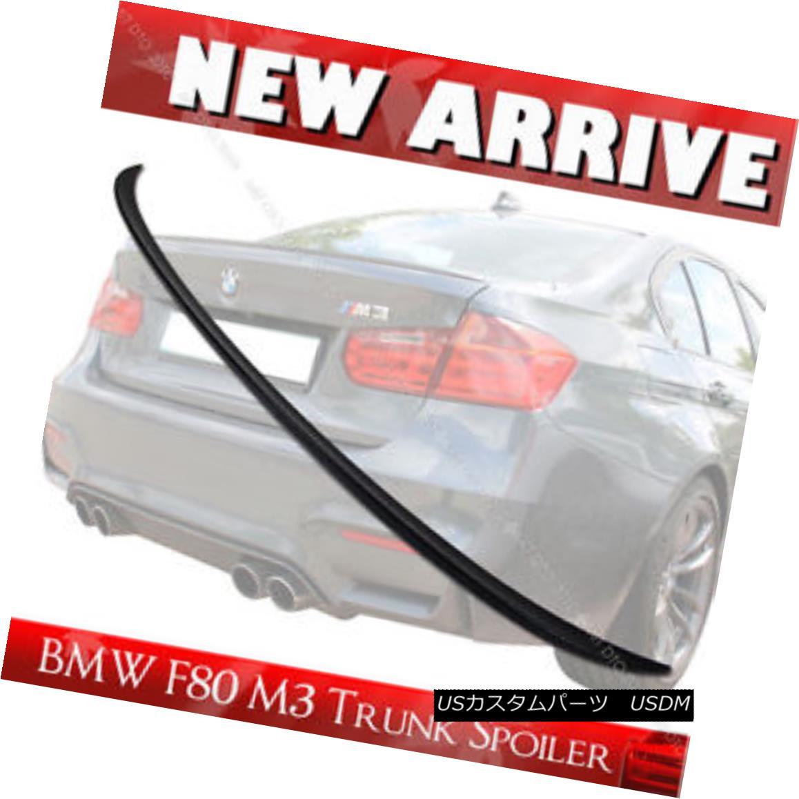 エアロパーツ Unpainted M3-Type ABS Rear Trunk Lip Spoiler for BMW F30 F80 M3 Model 2014+ 未塗装M3タイプABSリアトランクリップスポイラー(BMW F30 F80 M3モデル2014+用)
