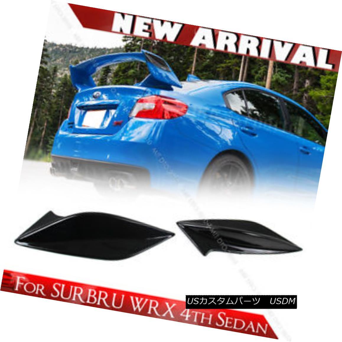エアロパーツ Paint MATT BLACK For Subaru WRX 4th STI Type Spoiler Side Fin Fins BodyKit ペイントマットブラックスバルWRX用4th STIタイプスポイラーサイドフィンフィンボディキット