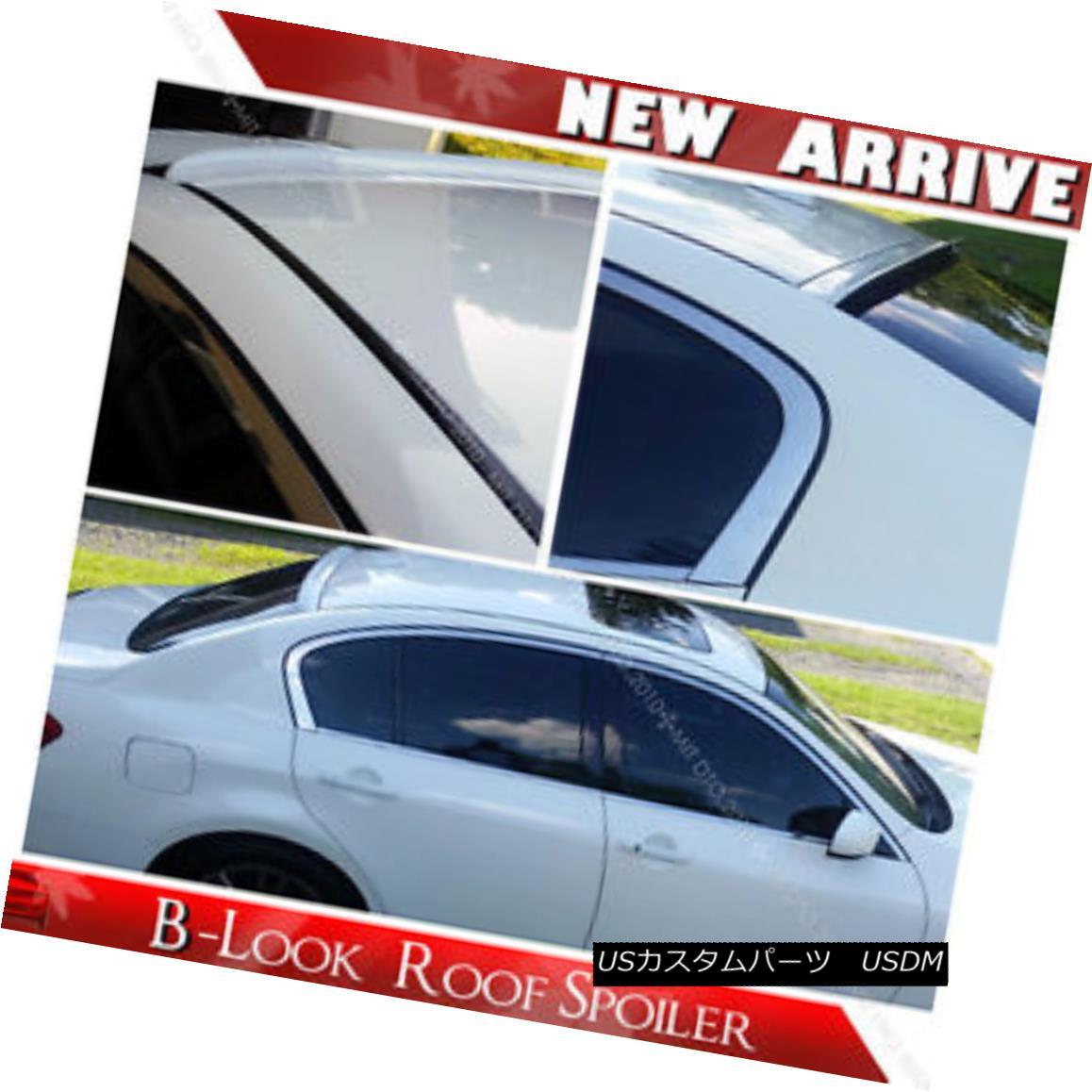 エアロパーツ Painted G35 G37 G25 Q40 V36 Window Rear Roof Lip Spoiler 07-13 § 塗装G35 G37 G25 Q40 V36ウィンドウリアルーフリップスポイラー07-13