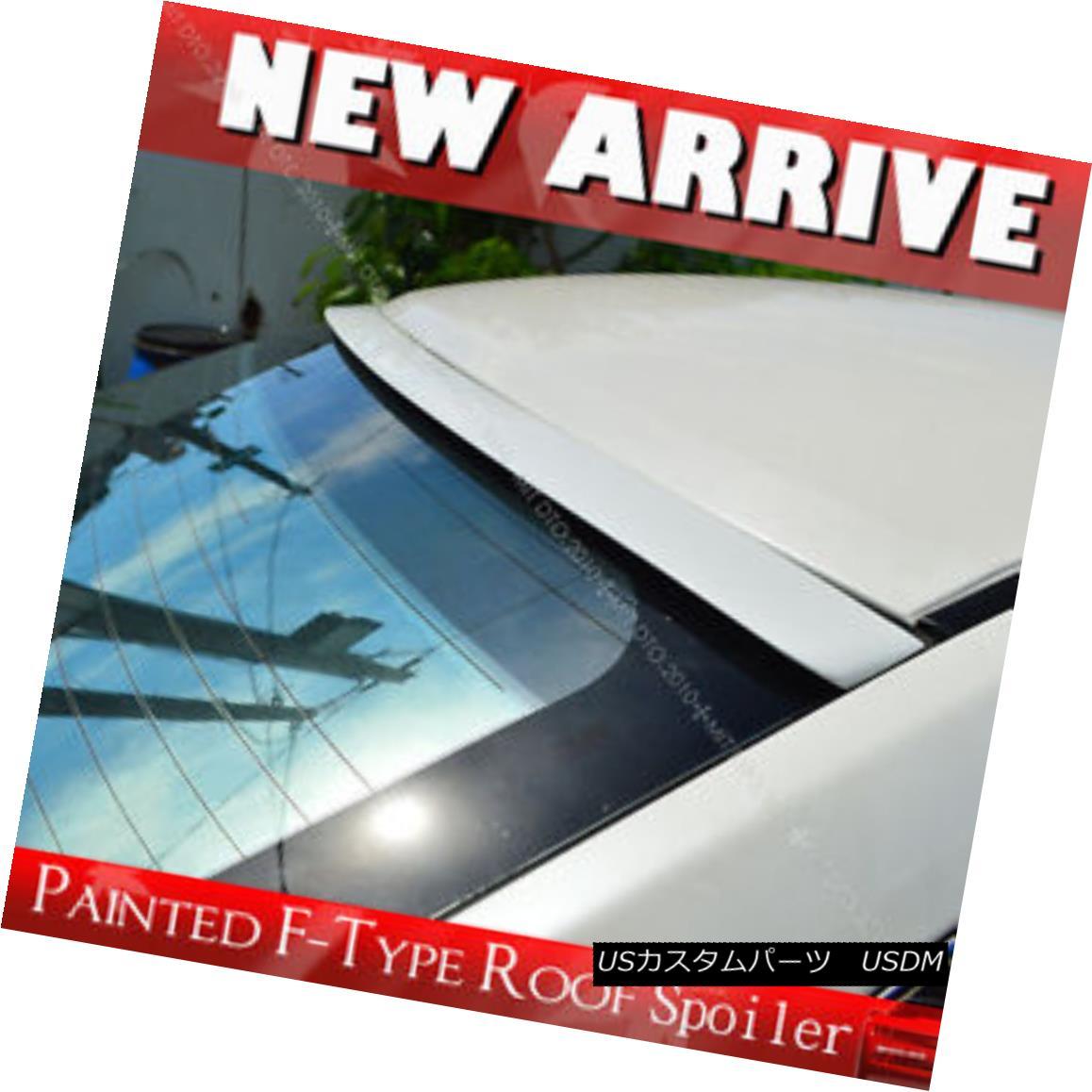 エアロパーツ Painted Window F-Style Roof Lip Spoiler Wing for NISSAN Sentra B17 Sedan 13-17 NISSAN Sentra B17セダン13-17用塗装窓Fスタイルルーフリップスポイラーウイング