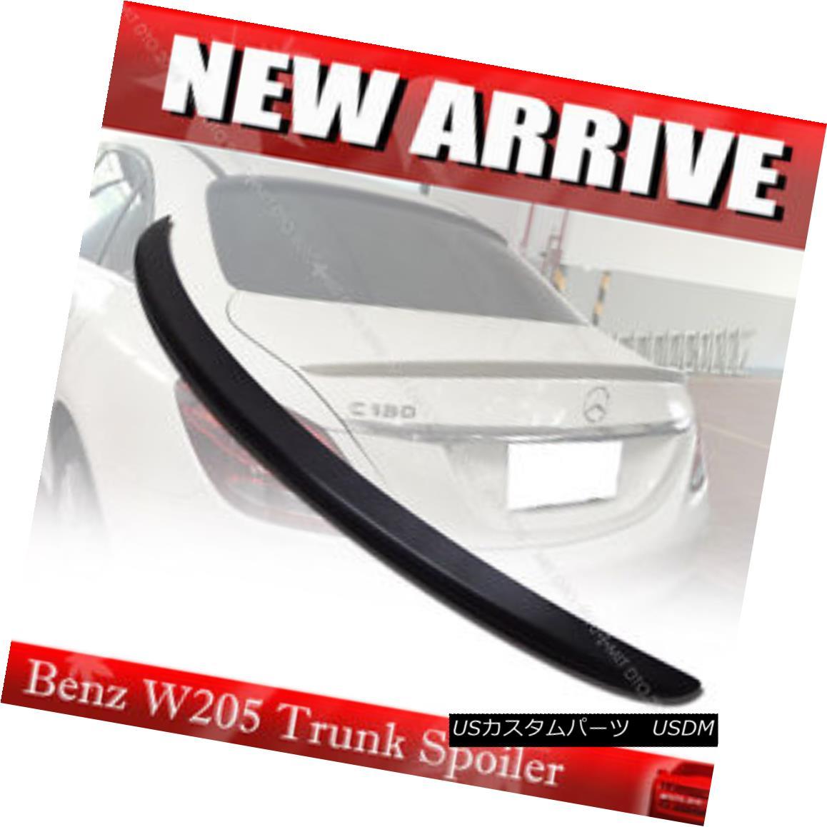 エアロパーツ Unpainted Mercedes BENZ W205 C-class Sedan A Type Rear Trunk Spoiler ABS § 未塗装メルセデスベンツW205 CクラスセダンAタイプリアトランクスポイラーABS