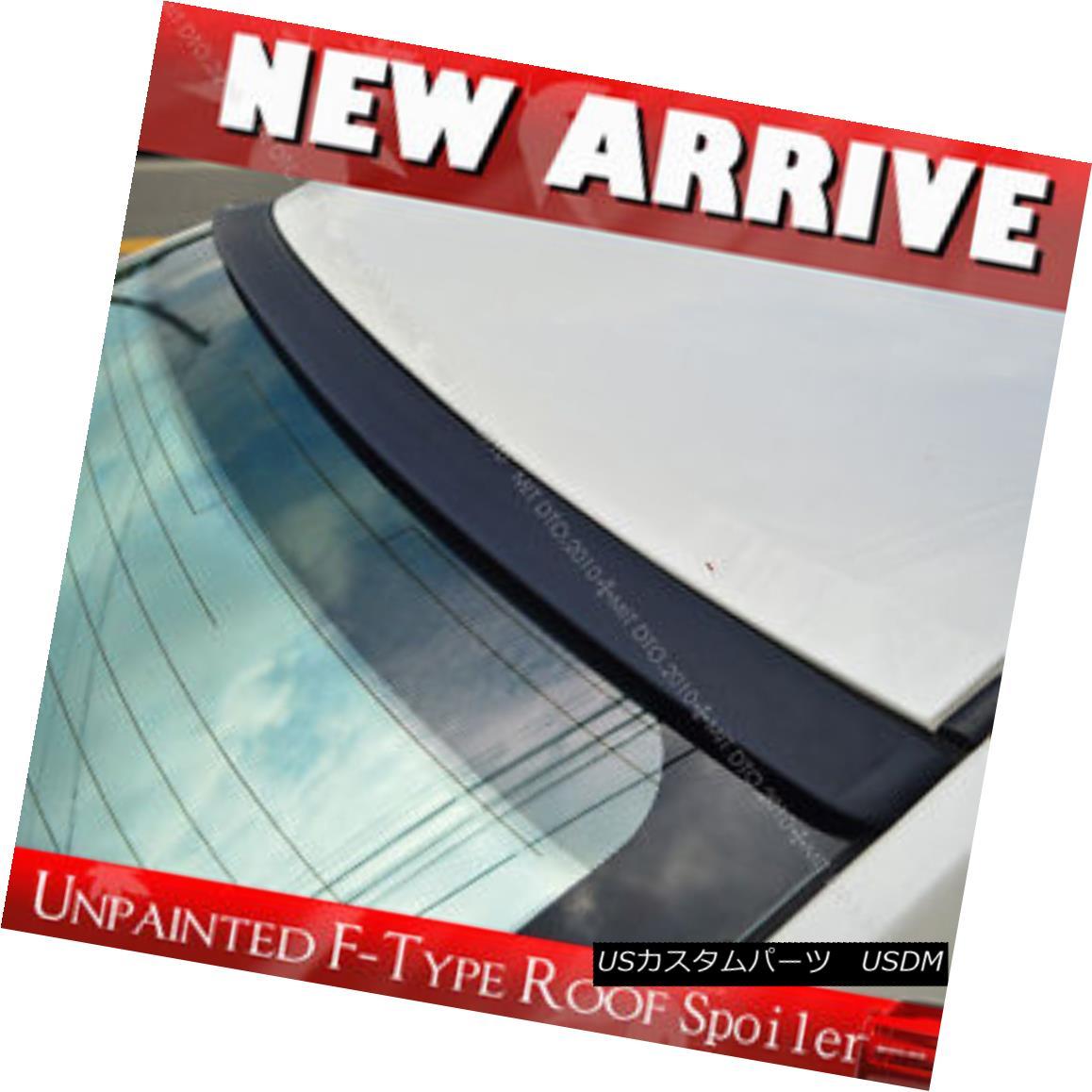 エアロパーツ Unpainted For Rear Roof Lip Spoiler F-Type Audi A4 B7 4DR Sedan 2006-2008 リヤルーフスポイラーFタイプのアウディA4 B7 4DRセダン2006-2008の未塗装
