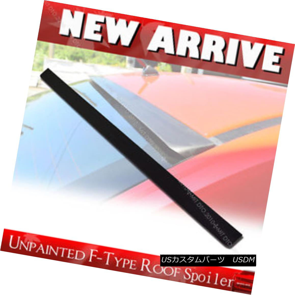 エアロパーツ Unpainted Rear Roof Lip Spoiler Wing F-Style for NISSAN Sentra B16 Sedan 07-12 § NISSAN Sentra B16セダン07-12 Un未塗装リアールーフリップスポイラーウイングFスタイル