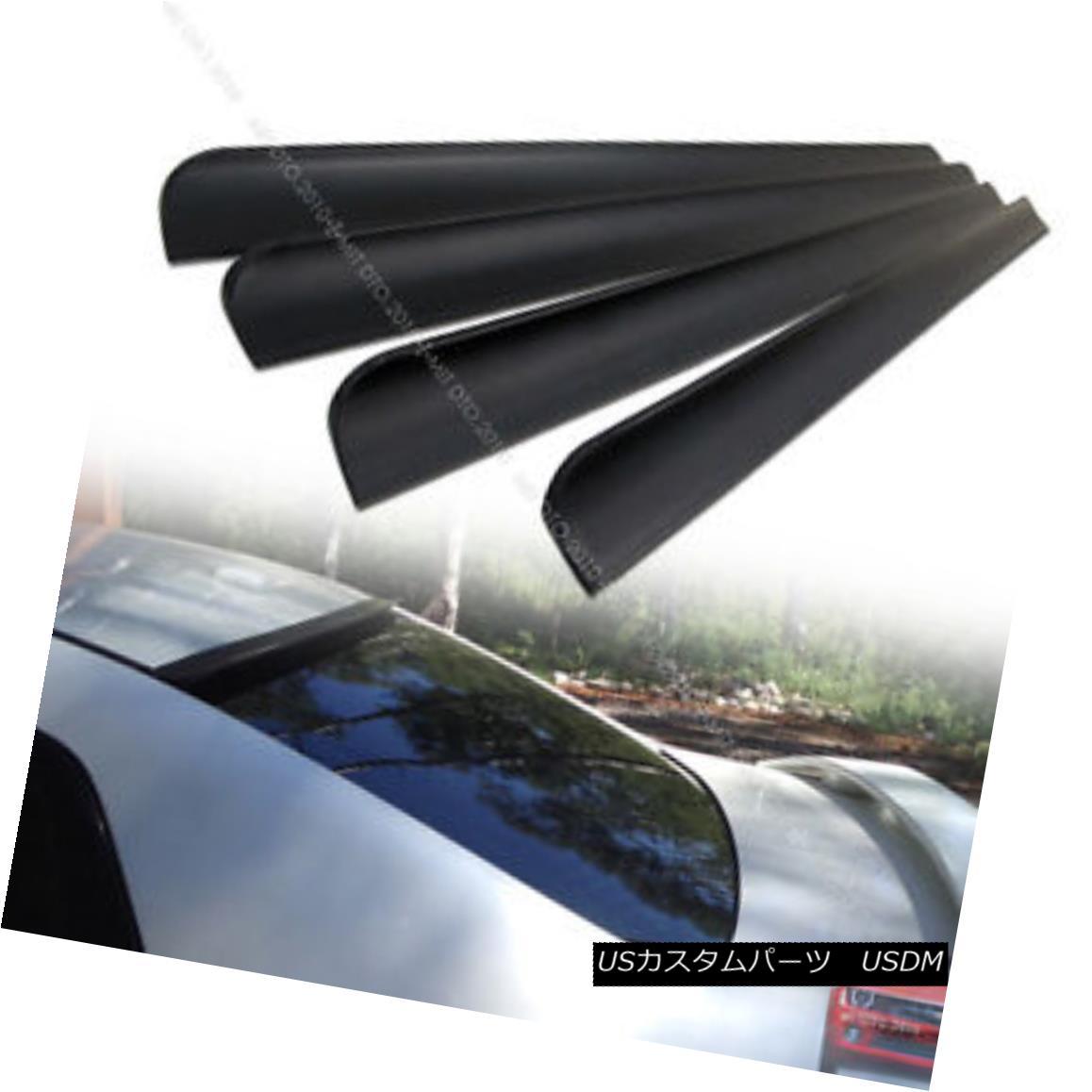 エアロパーツ UNPAINTED PUF FOR ACURA RLX 4DR Sedan REAR ROOF LIP SPOILER 2014+ § ACURA RLX 4DRセダンリアルーフリップスポイラー2014+ UN未塗装PUF