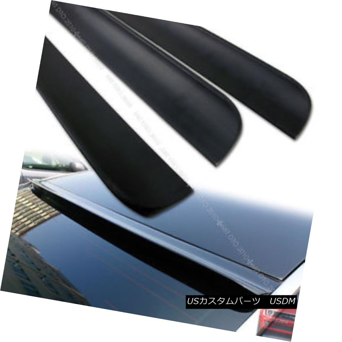 エアロパーツ Unpainted For Dodge Avenger 4DR Sedan Rear Roof Lip Spoiler Window 08-14 § ドッジ・アヴェンジャー4DRセダンリアルーフリップ・スポイラー・ウインドウ08-14◇未塗装